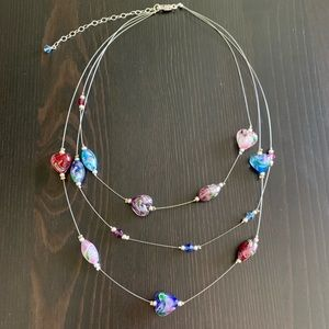 Jewelry - Layered Multicolored Glass Beaded Necklace